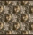 seamless pattern rectangular sculptures of vector image
