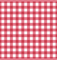 seamless red tablecloth texture pattern vector image