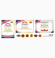 set diploma certificate template with luxury vector image vector image