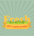 set of badges and labels elements for organic vector image vector image