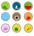 Set of bottle caps vector image