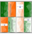 Set of modern flyers Background for Happy Indian vector image vector image