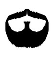 silhouette mustache and beard vector image vector image