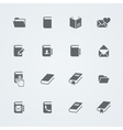 Simple set of books and mail Flat icons for your vector image