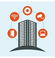 Smart city building app icon set vector image