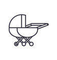stroller line icon sign on vector image vector image