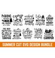 summer lettering design set hand drawn lettering vector image vector image