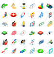 trade icons set isometric style vector image vector image