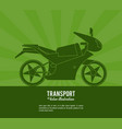 transport motorcycle vehicle design vector image vector image