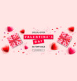 valentines day sale banner background with vector image vector image