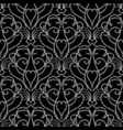 vintage black and white damask seamless vector image vector image