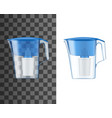 water filter pitcher or jug realistic mock-up vector image