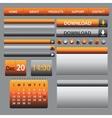 Website Web Design Elements Dark vector image vector image