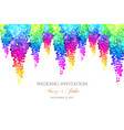 wisteria blossoms horizontal banner with rainbow vector image vector image