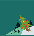 xmas card and holiday card vector image