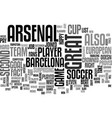 arsenal put up a good fight text word cloud vector image vector image