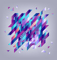 background with gradient geometric shapes - modern vector image