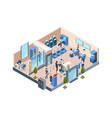 bank interior isometric business financial vector image vector image