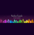 beautiful colorful crystal banner ruemerald vector image vector image