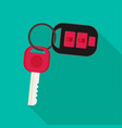 car rent concept key flat icon vector image vector image