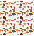 cartoon mushrooms background pattern vector image vector image
