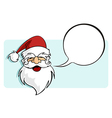 Christmas series Santa Claus with a blank comic vector image