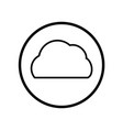cloud icon in circle line - iconic design vector image