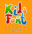 colorful funny unusual kids font vector image