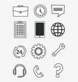 customer service call center vector image vector image