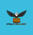 eagle bring box good for delivery service logo vector image