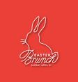 easter brunch linear lettering vector image vector image