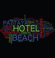 endless happiness at beach hotel pattaya text vector image vector image