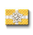 gift box top view isolated template vector image