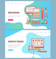 graphic and web design website pages development vector image