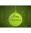 Green Xmas Greeting Card vector image vector image
