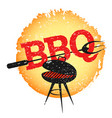grill with barbecue fork vector image vector image