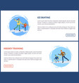 hockey training winter games and sports web set vector image