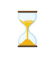 hourglass with transparent glass vector image