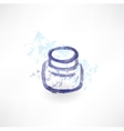 Ink jar grunge icon vector image vector image