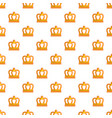 king crown pattern seamless vector image vector image
