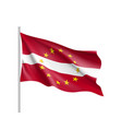 latvia national flag with a star circle of eu vector image vector image