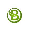 letter b leaf vector image