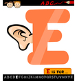 letter e with ear cartoon vector image vector image