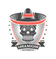 los amigos vintage isolated label with skull vector image vector image