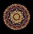 mandala radial geometric pattern vector image
