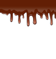 Melted chocolate syrupy drips isolated on white vector image vector image