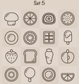 Outline Icons Set 5 vector image