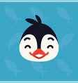 penguin emotional head of vector image vector image