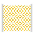 perforated gate icon isolated vector image vector image