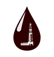 Rig in a drop of oil vector image vector image